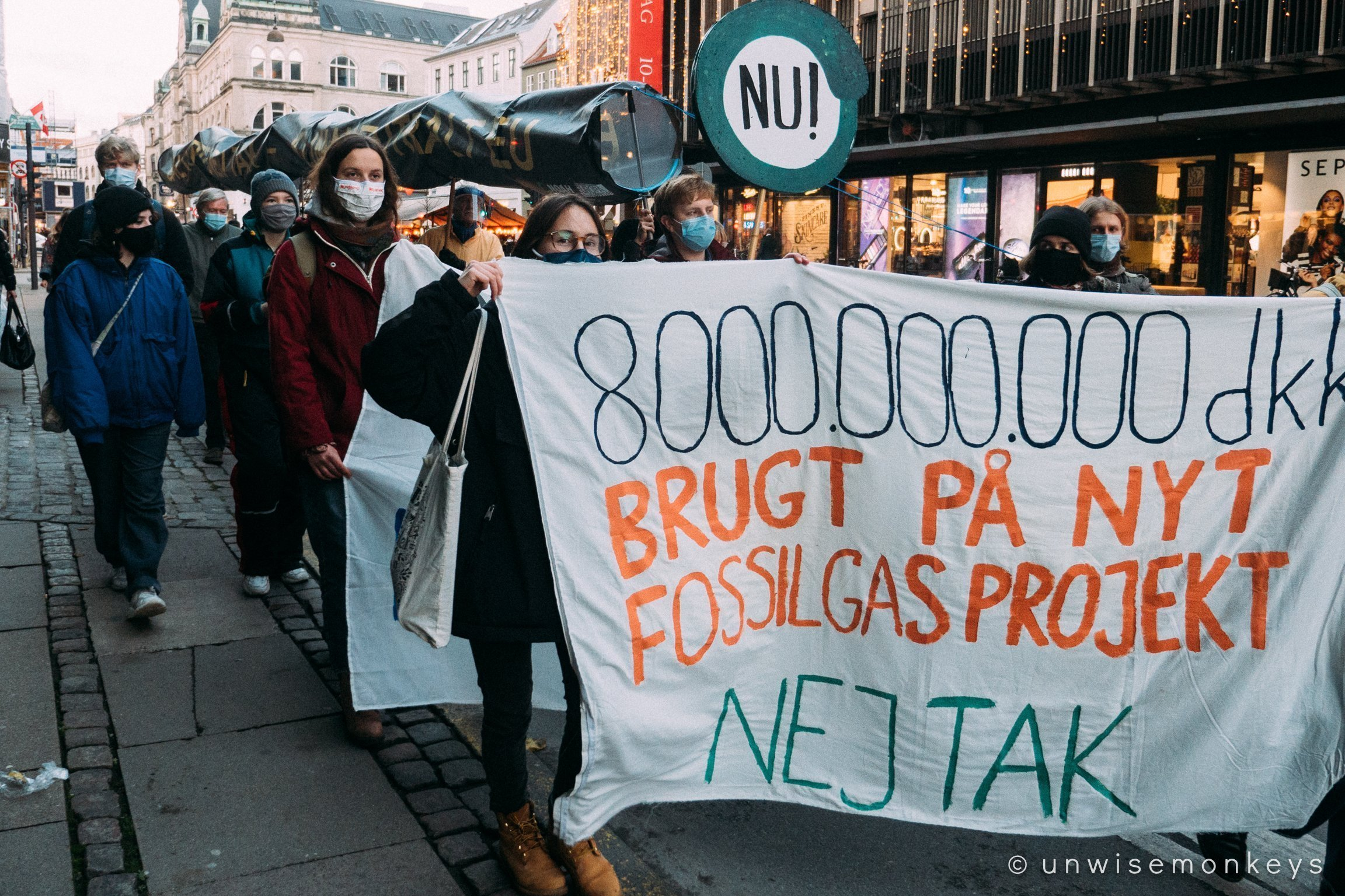 Baltic Pipe Nej Tak demonstration in Copenhagen